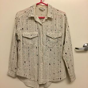 Vintage Patterned Button Down Shirt